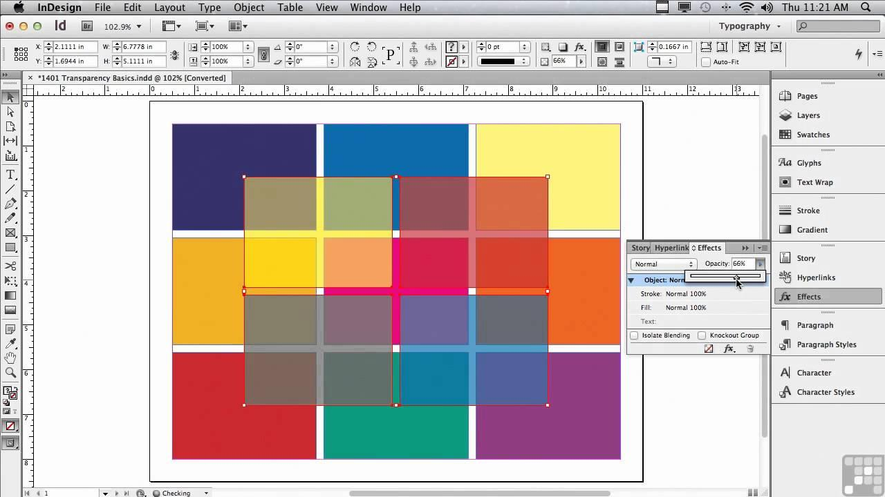 adobe indesign opacity desktop publishing software