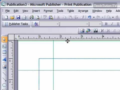 microsoft publisher rulers desktop publishing software
