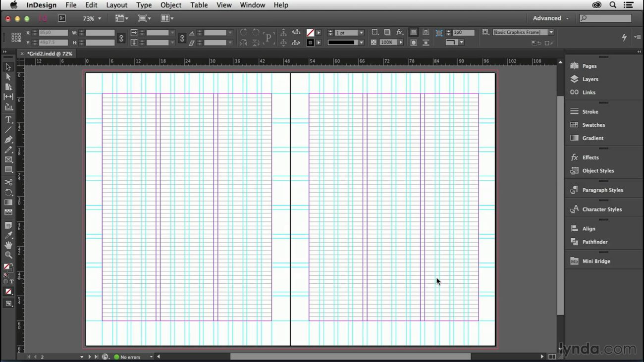 adobe indesign grids desktop publishing software